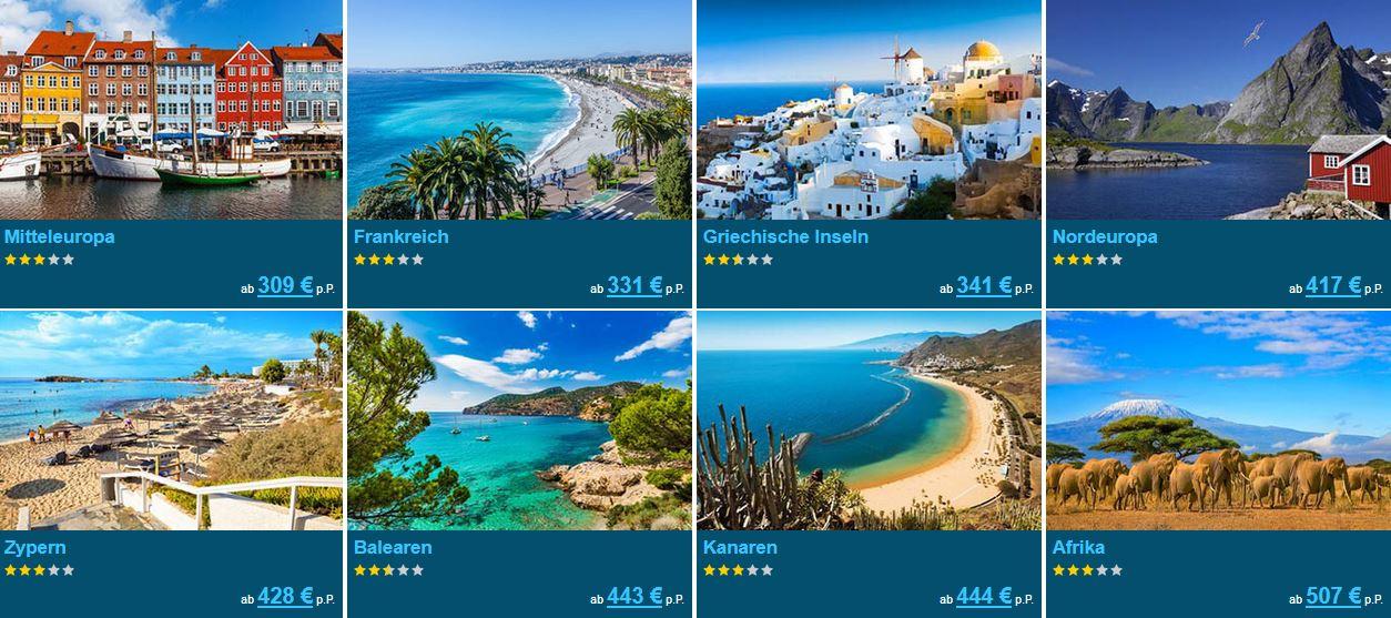 Beliebte Urlaubsziele 2021